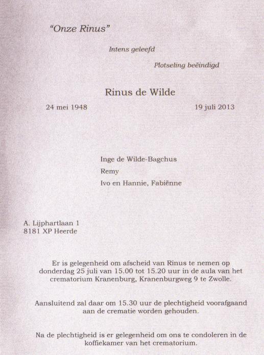 Rinus de Wilde