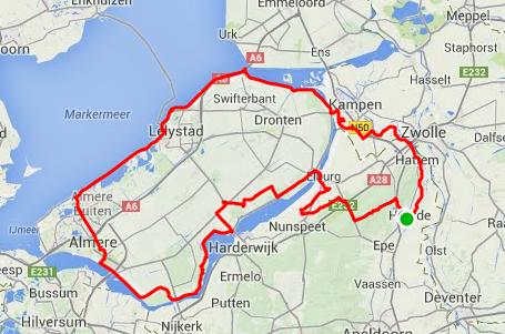 route langeafstandtocht 2014