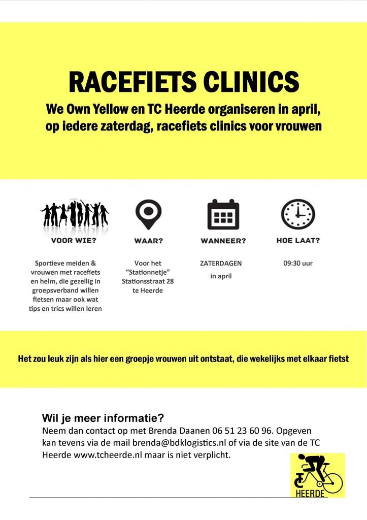 Poster racefiets clinics vrouwen