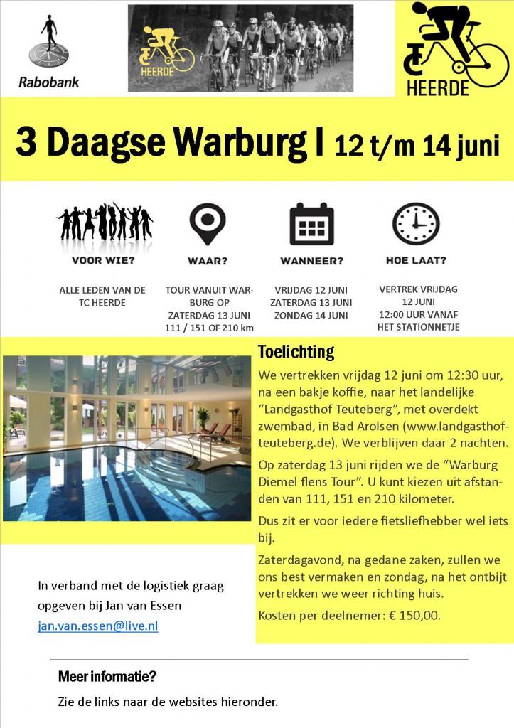 Poster 3 daagse Warburg