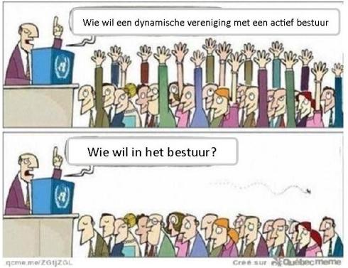 wie wil in het bestuur