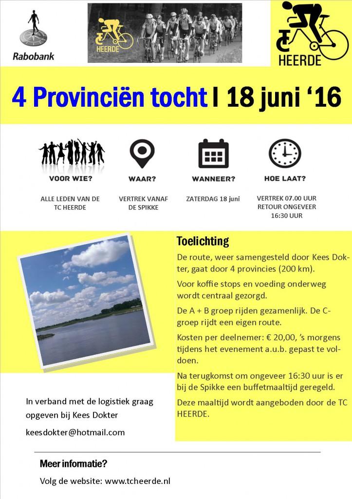 Poster 4 provincien tocht 2016